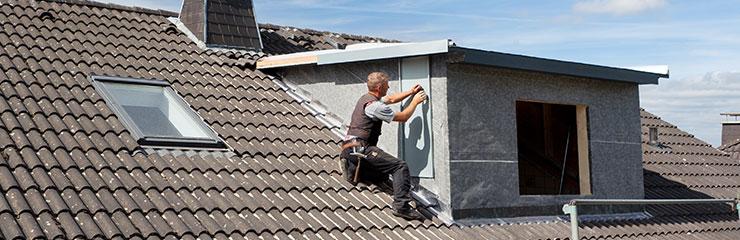 dakkapel met plat dak plaatsen
